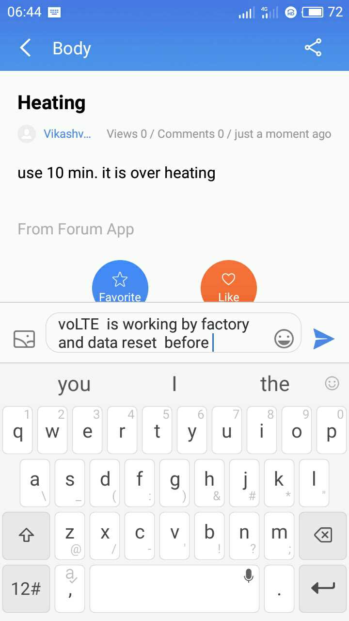 Volte not working on meizu m5 -Flyme Official Forum